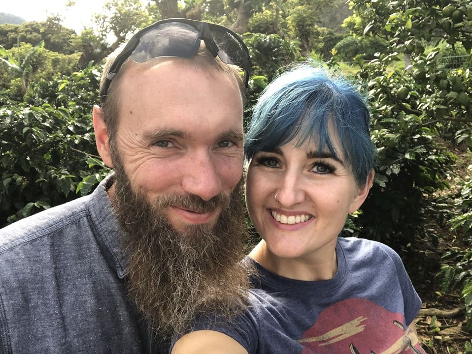 The Hair and her husband in Costa Rica