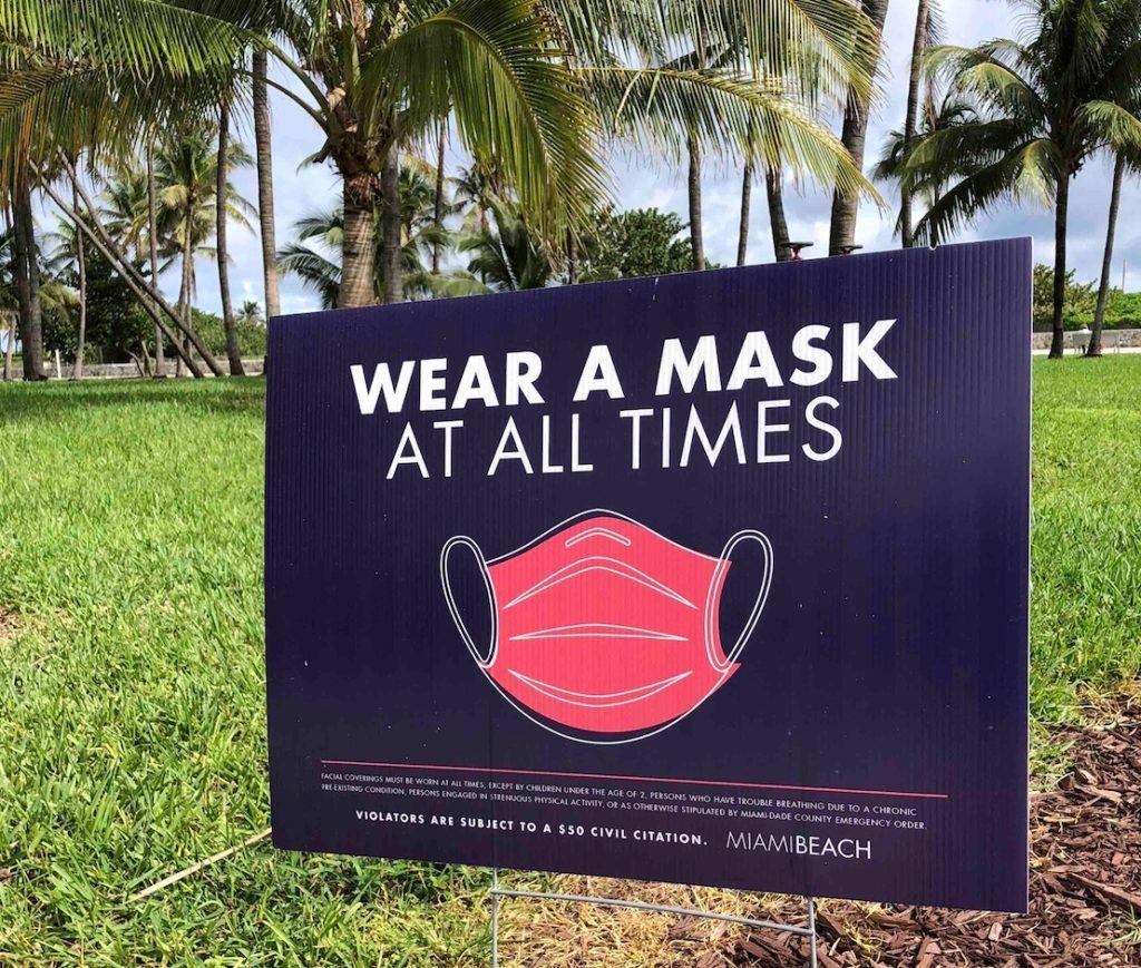 Miami COVID signage